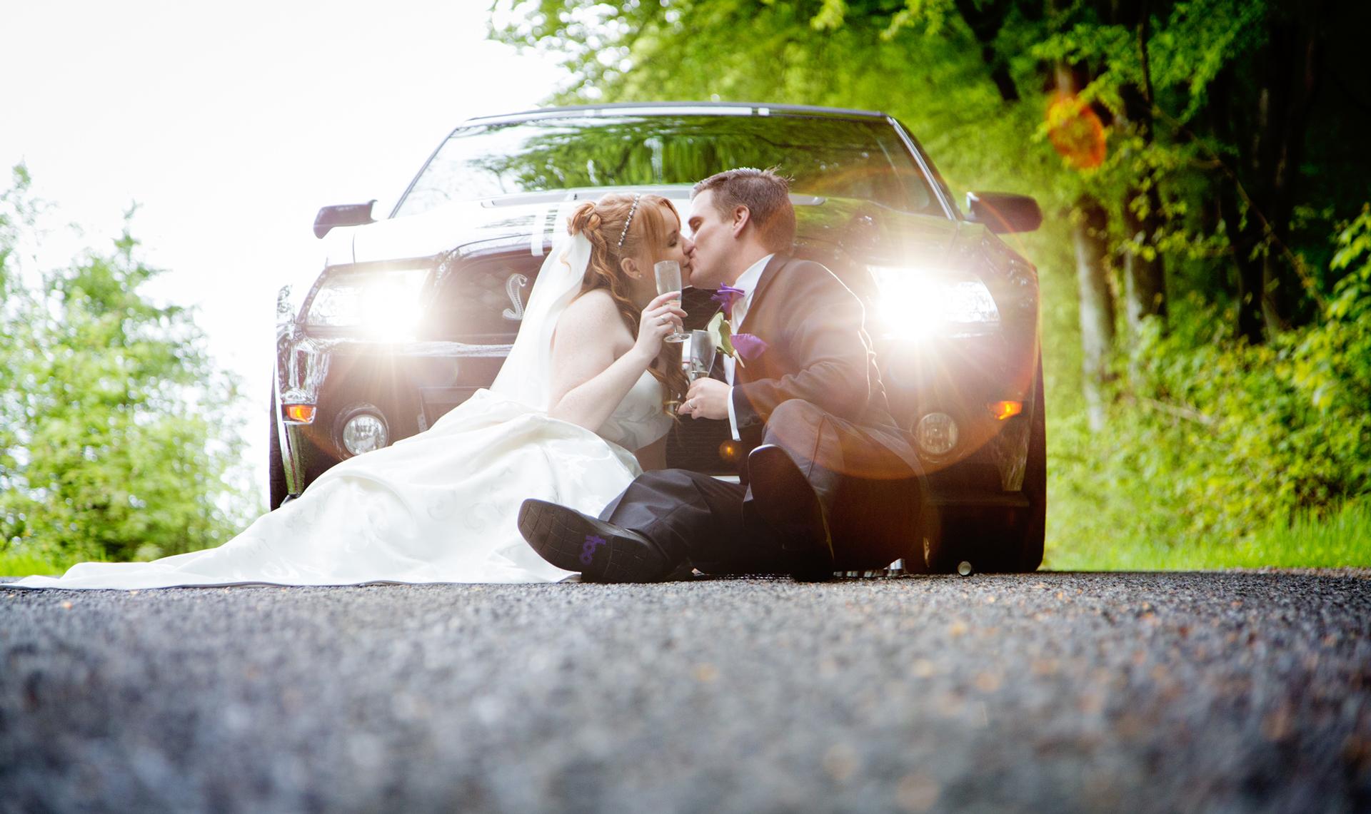 Nadja og Renes bryllup Mustang